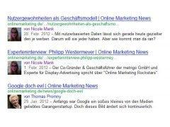 Endlich auch auf google.de: Autorenbilder