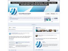Onlinemarketing.de Fanpage mit der neuen Facebook Timeline