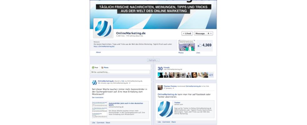 Die neuen Facebook Pages jetzt mit Timeline