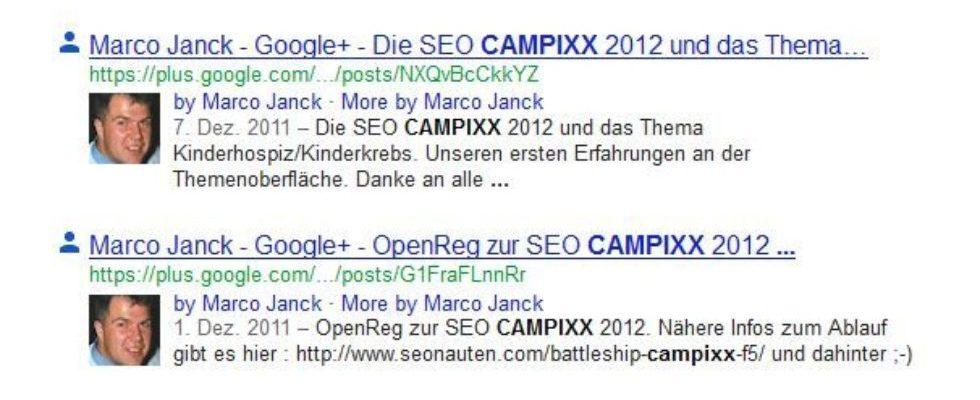 Mit Google+ Headlines in die SERPs