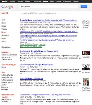 Leistungsschutzrecht für Verlage – Google News bald kostenpflichtig?