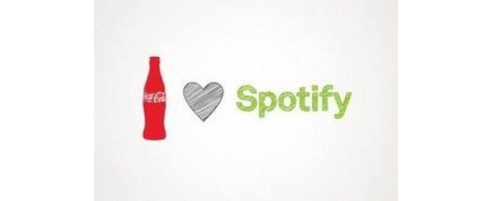 Spotify-Musikdienst für Coca Cola