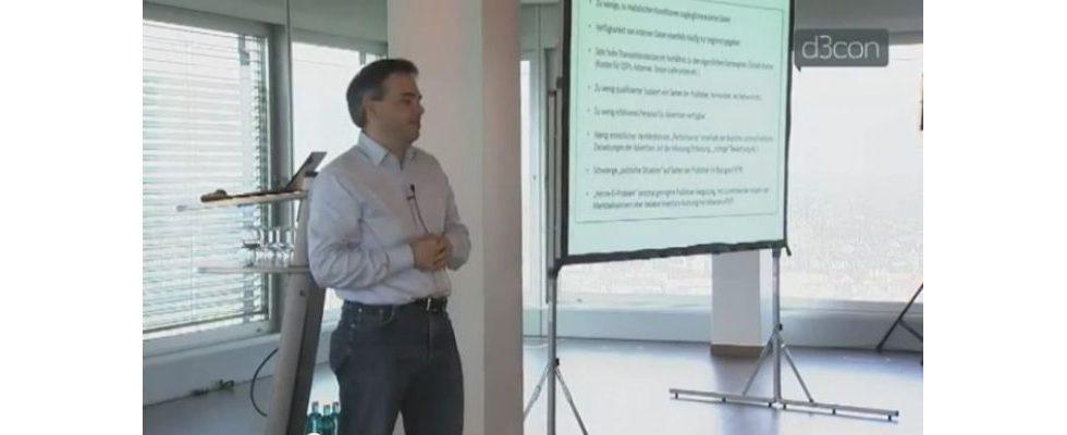 Vortrag von Florian Heinemann auf der d3con 2012