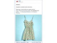 Interaktionspost des Textilherstellers H&M