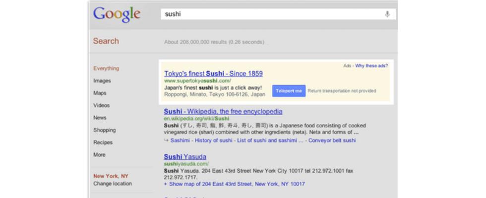 """Google stellt """"Click-to-Teleport""""-Erweiterung vor"""