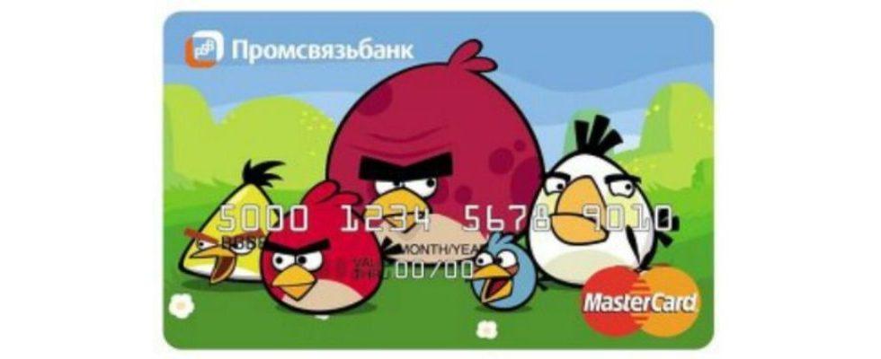 Angry Birds jetzt auch als Kreditkarte