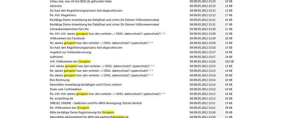 Groupon-Spam-Fiasko über Affiliate-Mailingliste