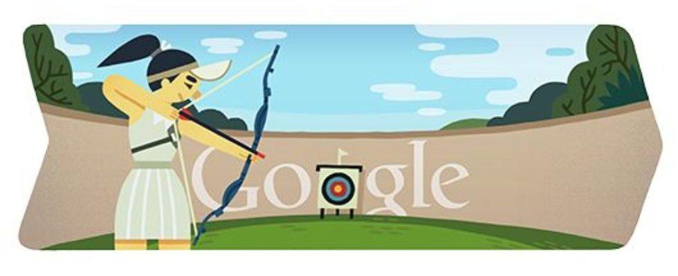 Google Doodle von heute: Bogenschießen