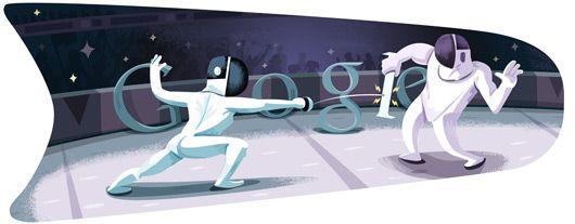 Google Doodle von heute: Fechten