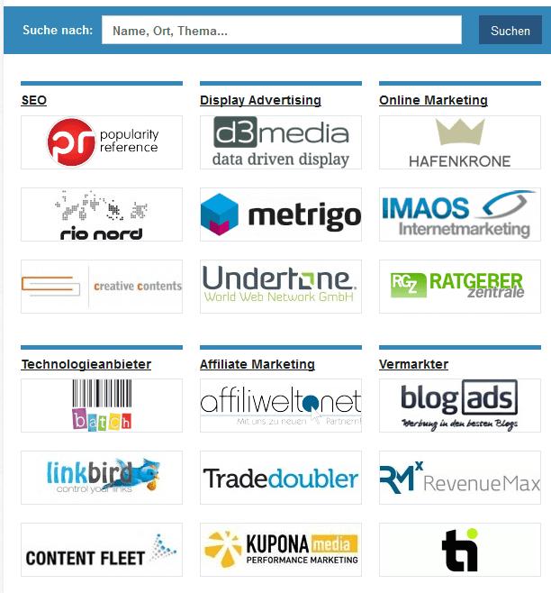 Neu: Anbieter und Jobs bei OnlineMarketing.de
