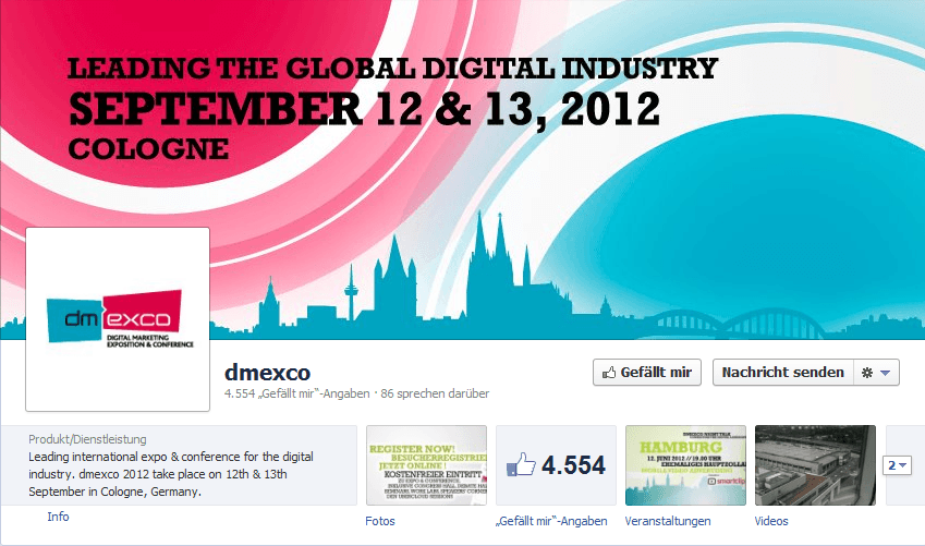 dmexco 2012 am 12. / 13. September