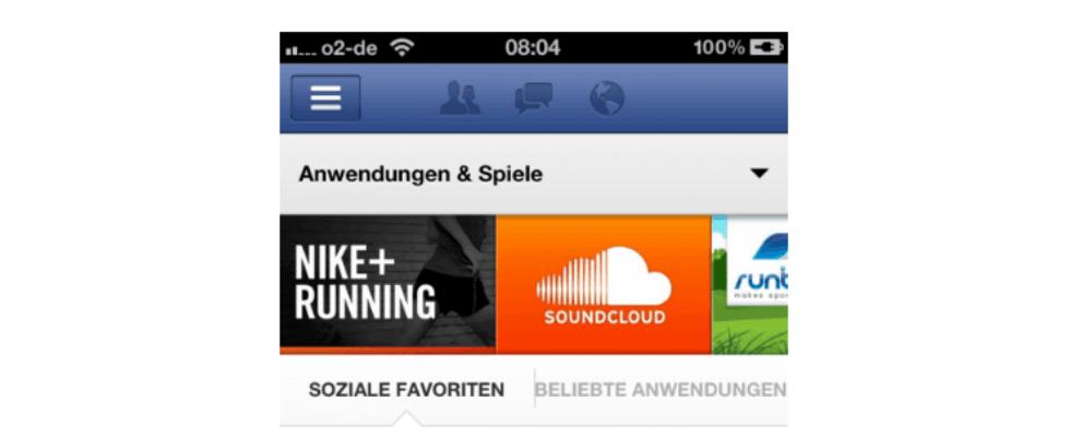 Facebook: App-Zentrum für Deutschland gestartet