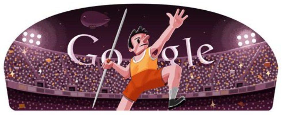 Google Doodle von heute: Speerwerfen
