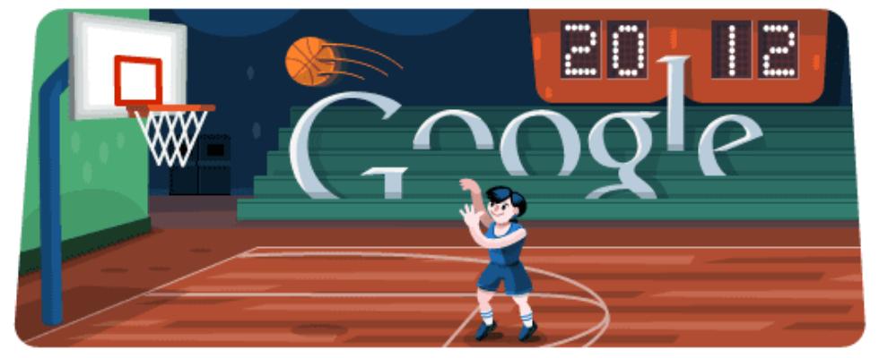 Google Doodle von heute: Basketball