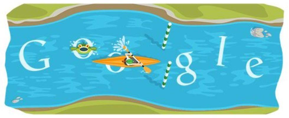 Google Doodle von heute: Kanuslalom