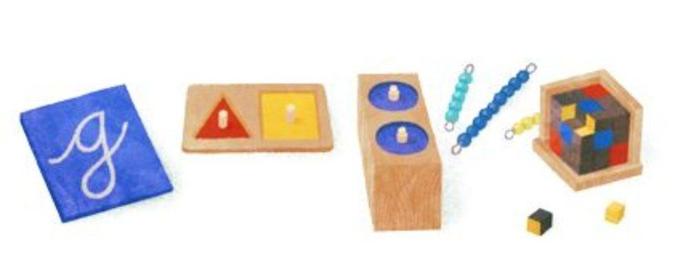 Google Doodle von heute: Maria Montessori