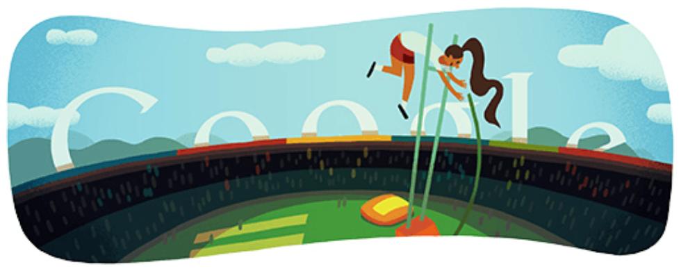 Google Doodle von heute: Stabhochsprung