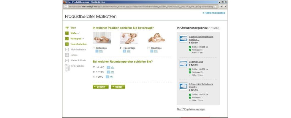 Point-Of-Sale Beratung in Online-Shops