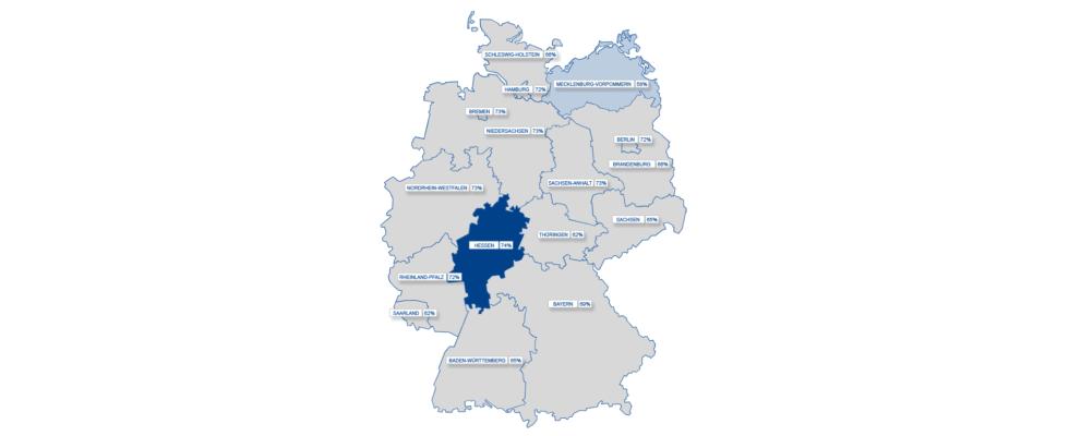 Social Media-Landkarte Deutschland
