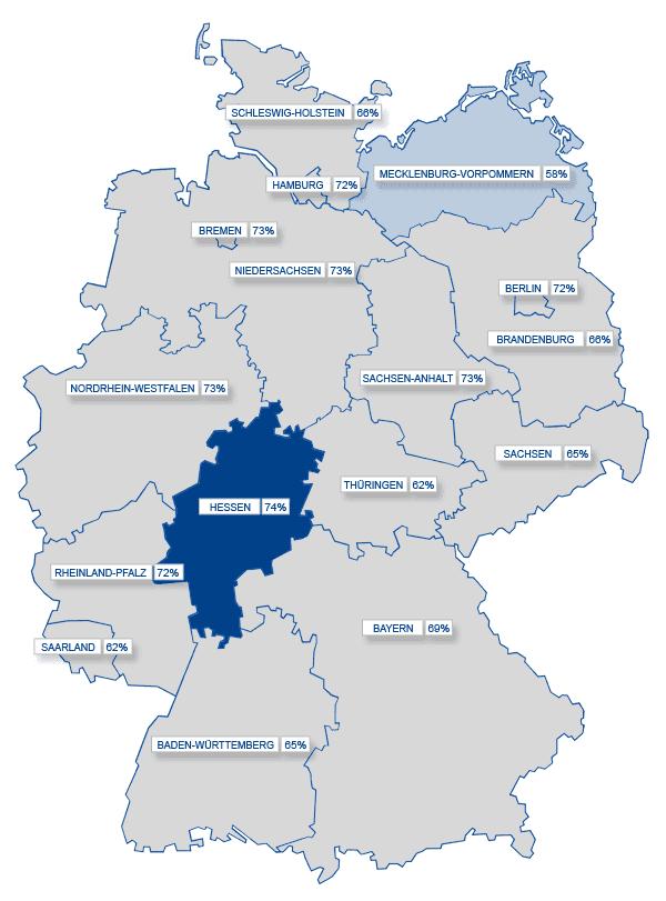 Social Media-Karte: Deutschland