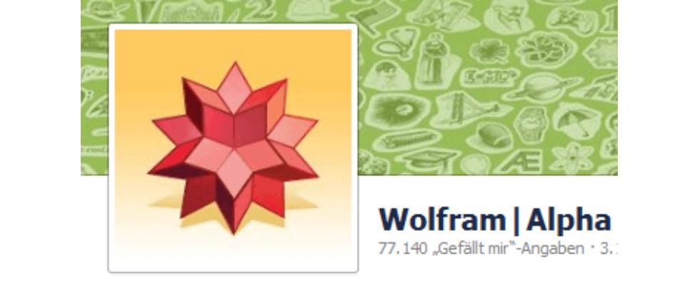 Wolfram Alpha startet Facebook-Analysedienst