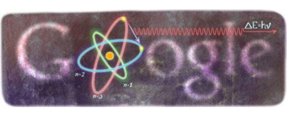 Google Doodle von heute: Niels Bohr
