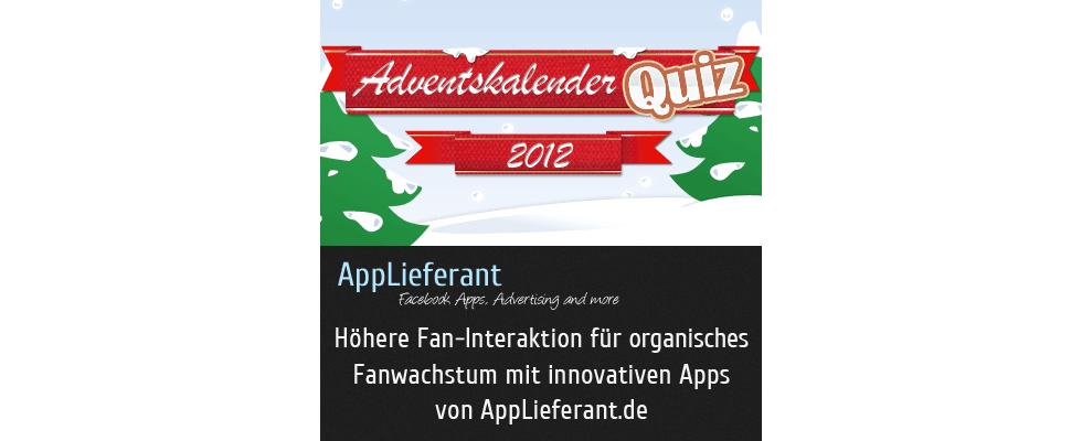 """Neue Facebook-Marketing App: """"Adventskalender-Quiz"""" verspricht Shopbetreibern bis zu 5.000 neue Fans bis Heiligabend"""