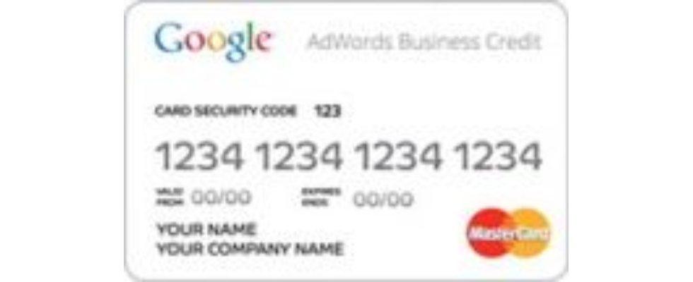 Google bietet Kreditkarte für AdWords an