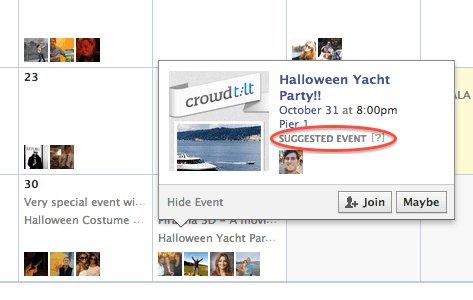 suggested events facebook