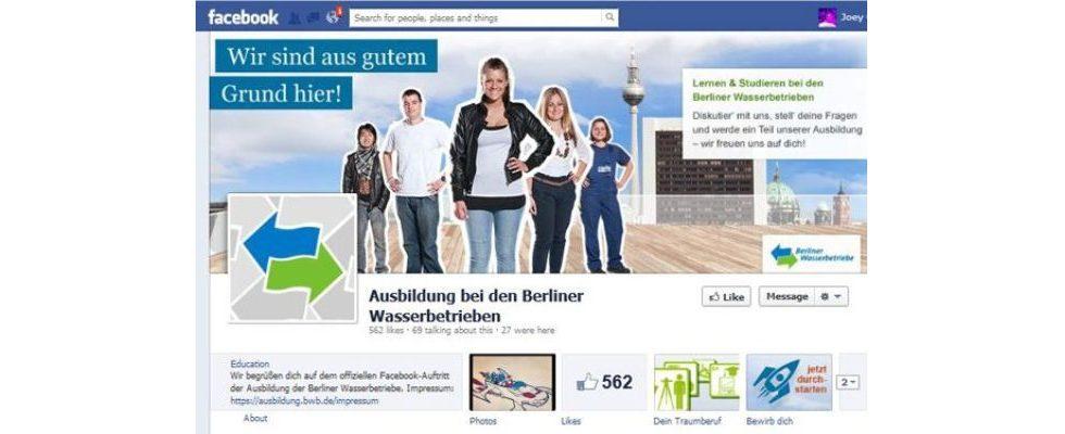 Social Media anhand der Berliner Wasserbetriebe