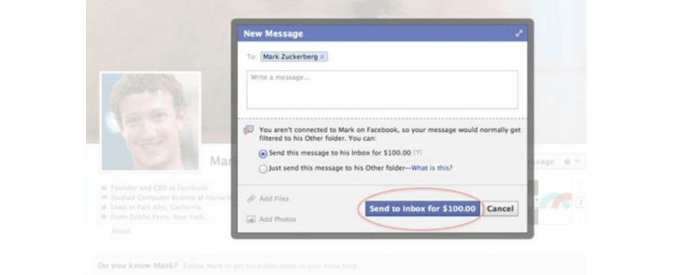 Facebook-Nachrichten zukünftig kostenpflichtig?