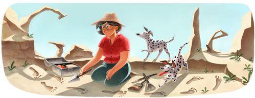 Google Doodle von heute: Mary Leakey