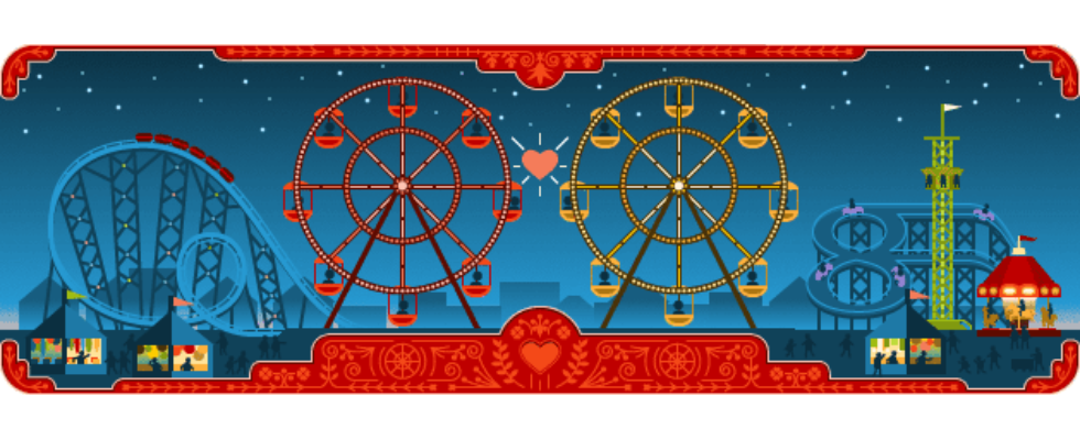 Google Doodle von heute: George Ferris – Liebesgeschichten zum Valentinstag