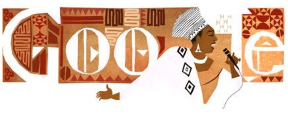 Update: Google Doodle von heute: Miriam Makeba