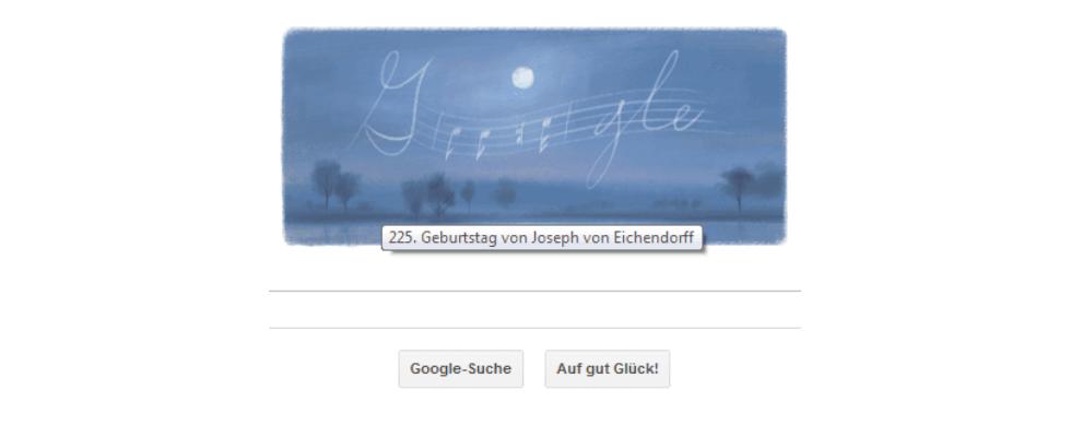 Google Doodle von heute: Joseph von Eichendorff, ein deutscher Lyriker