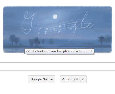 Google Doodle von heute: Joseph von Eichendorff