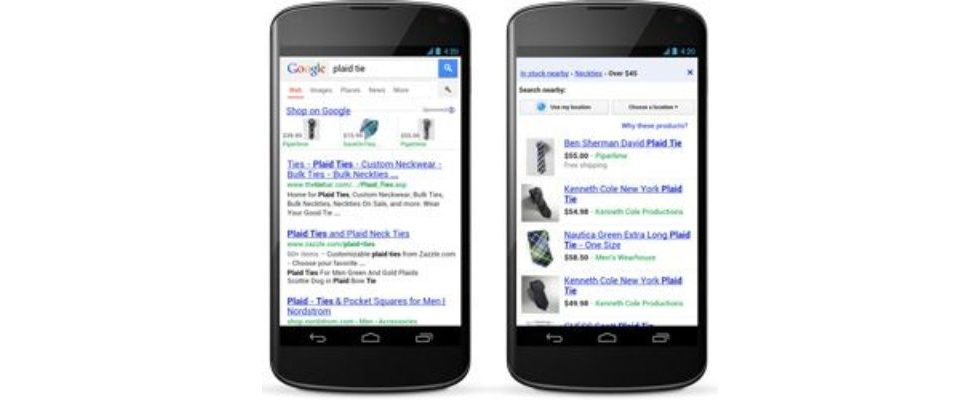 Google launcht Product Listing Ads für Smartphones