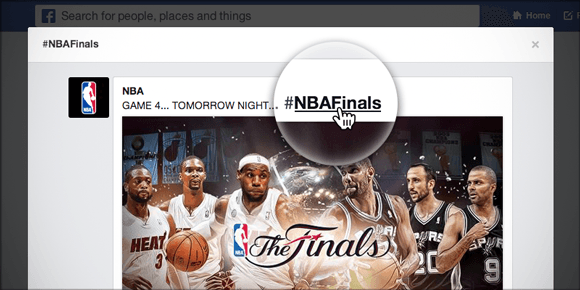 NBA Finals Facebook Hashtag