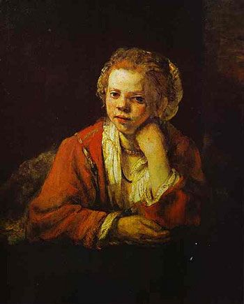 REMBRANDT Harmenszoon van Rijn Young Girl at the Window 1651