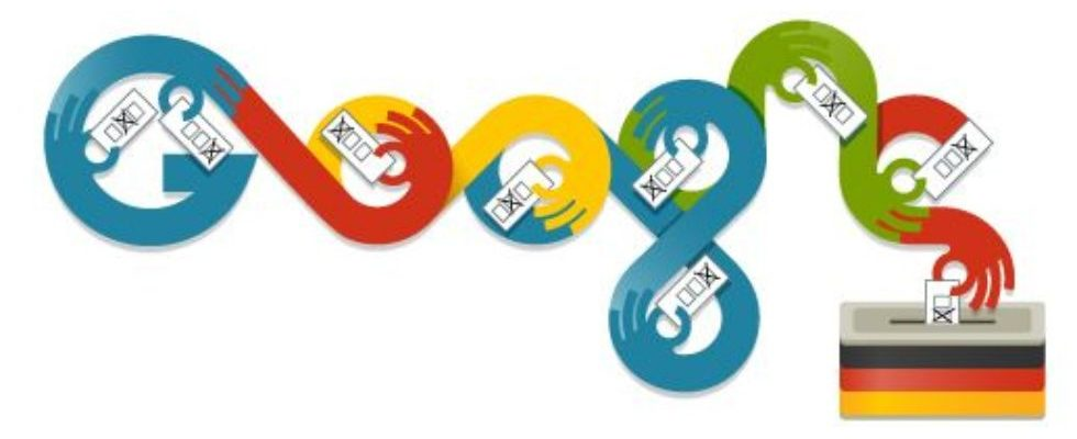 Google Doodle von heute: Bundestagswahl 2013
