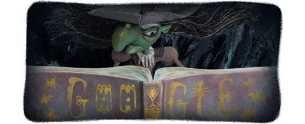 Google Doodle von heute: Halloween Hexe