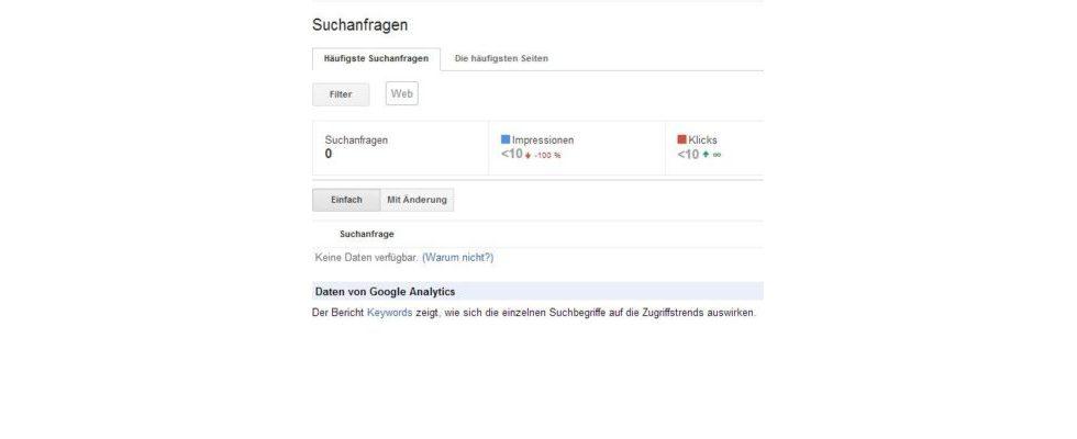 Keine Panik: Geblockte Keywords im Google Webmaster Tools nur temporärer Bug