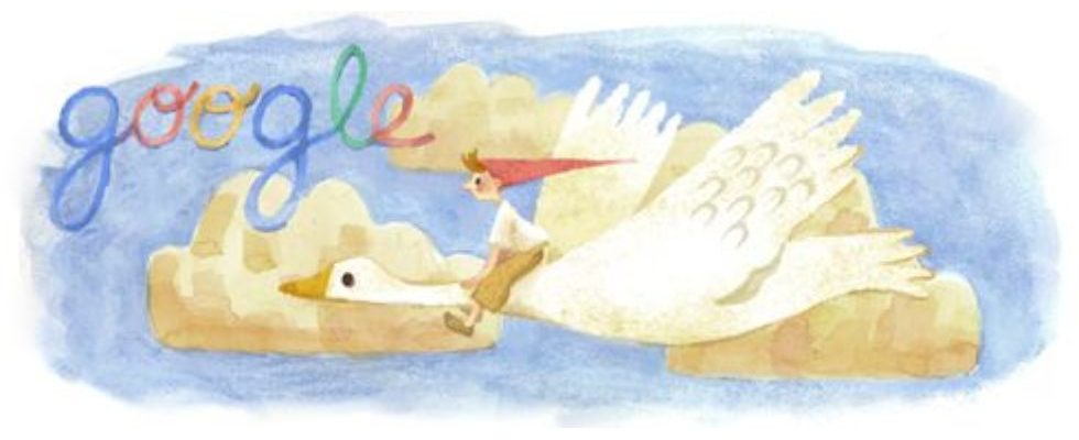 Selma Lagerlöf: Google Doodle zum 155. Geburtstag