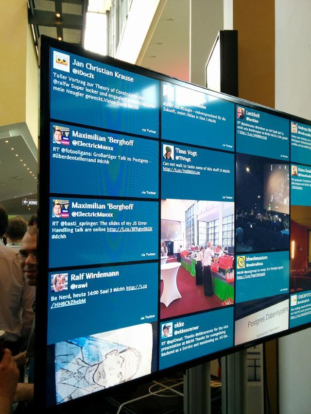 Twitterwall developer Conference