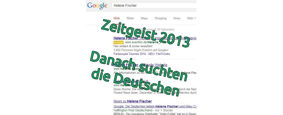 Wonach Deutschland suchte: Google Zeitgeist 2013