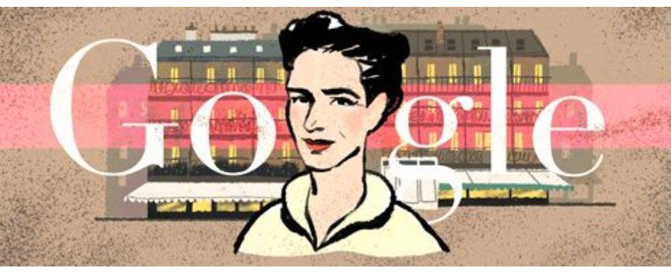 Google Doodle von heute: Simone de Beauvoir – eine der bekanntesten Intellektuellen Frankreichs