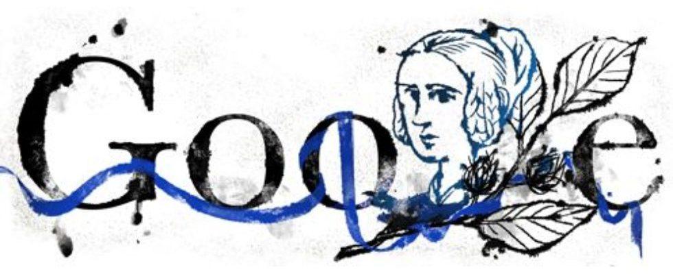 Google Doodle von heute: Annette von Droste-Hülshoff, die Dame auf dem 20-DM-Schein