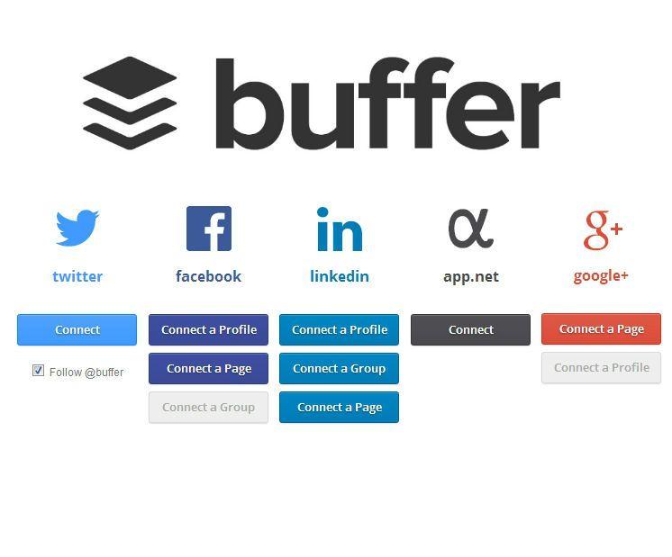 Mit Buffer verknüpfen Sie verschiedene Soziale Netzwerke und können so einfacher und schneller Beiträge posten und planen.