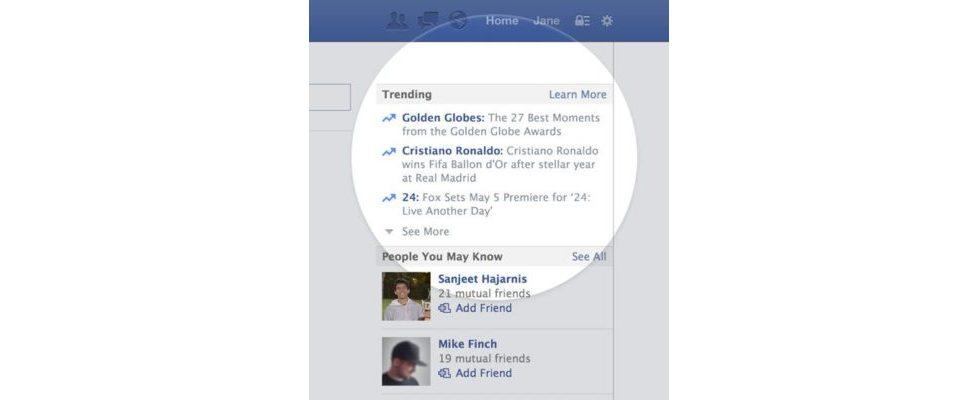 Facebook folgt Twitter: Jetzt mit personalisierter Trending Topics Liste