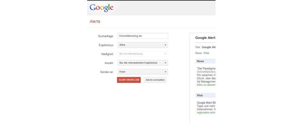 Google Alerts: Redesign macht die Funktion übersichtlicher und kompatibler